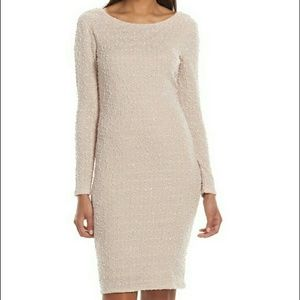 Jennifer lopez boucle sheath dress